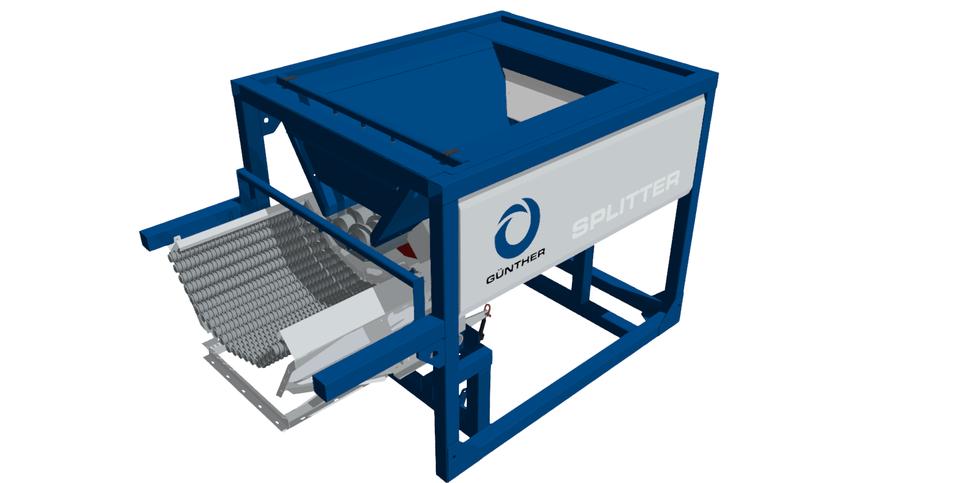 SPLITTER Container Unit - Twin Wave Screening Deck