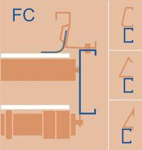 GÜNTHER - Flachband Typ FC - Schnitt im Seitenbereich