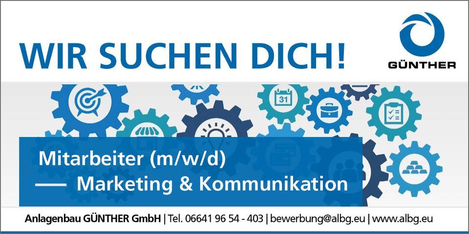 Stellenangebot Marketing & Kommunikation