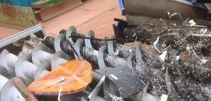 Anwendung Metallschrott - Spiralwellensieb SPLITTER