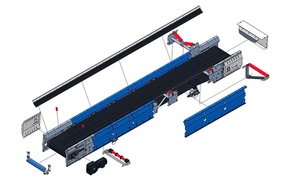 Conveyor belt components