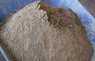 Von Organik befreiter Sand - Aufbereitung von Kanalsand