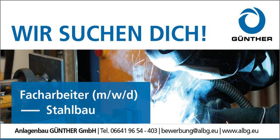 Stellenangebot - Facharbeiter Stahlbau (m/w/d)