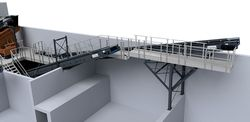 Accessories conveyor belts - maintenance platform