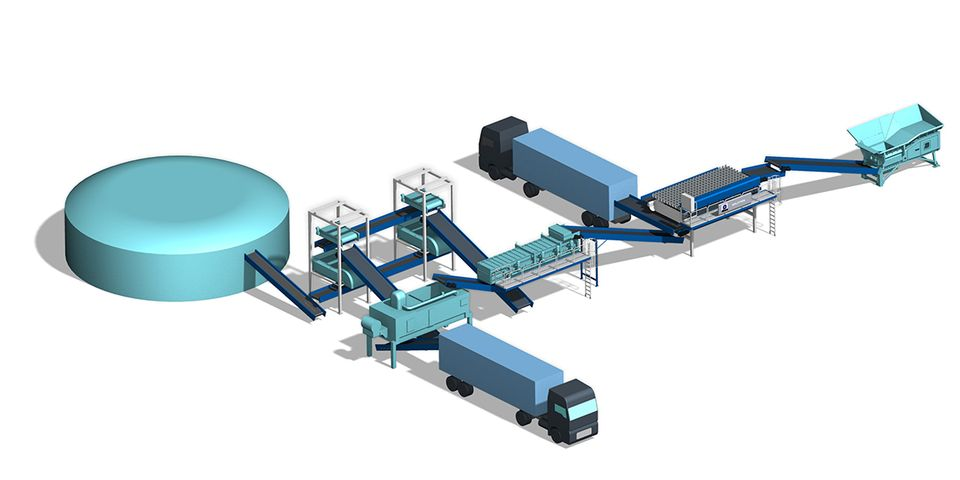 Praxisbeispiel Vergärung und Separation von Organik/Bioabfall und Biomasse