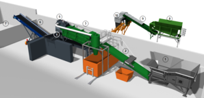 Schematic diagram of the material processing