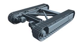 Mobilmaschinen Recyclingtechnik - Track Fahrwerk