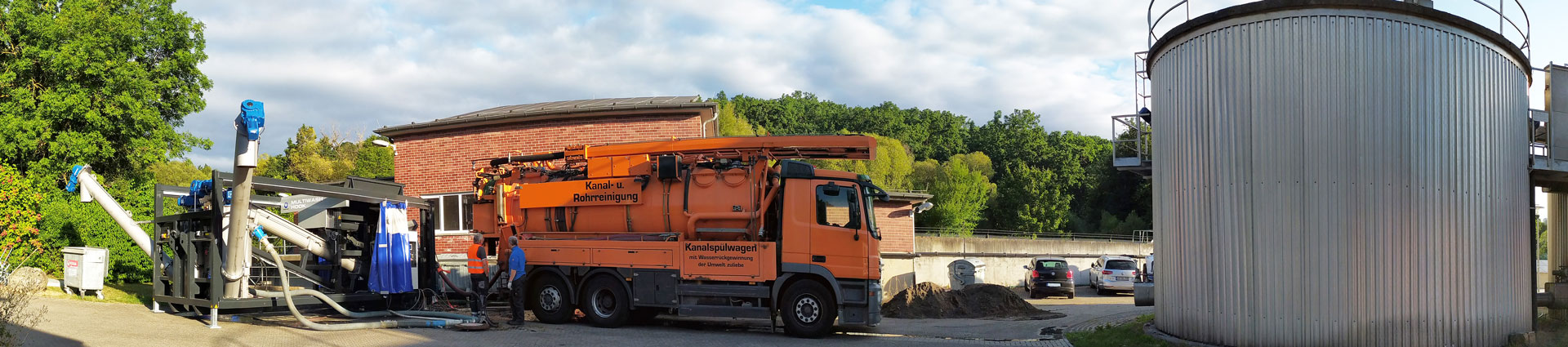 Anlagenbau - Aufbereitung von Kanalsand & Straßenkehricht