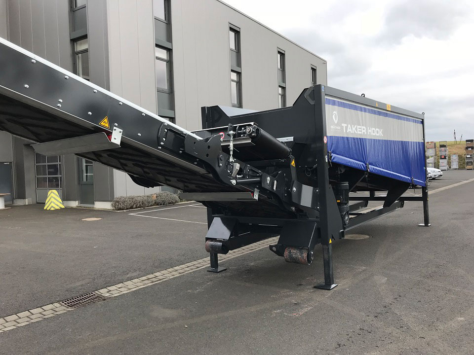 Hook lift system specific to the country can be selected