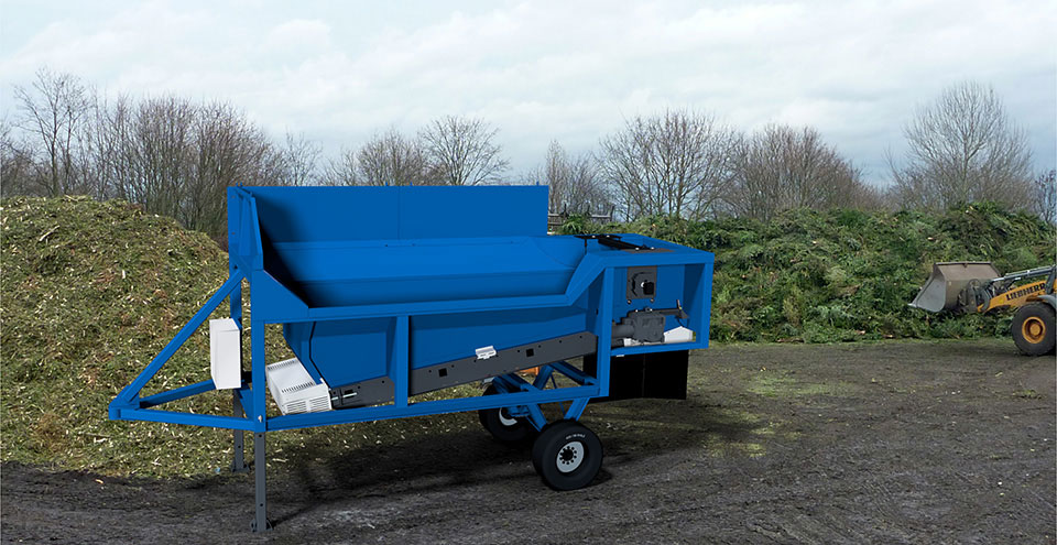 TAKER TL-12 - mobile yard unit (separation of pruning residues)